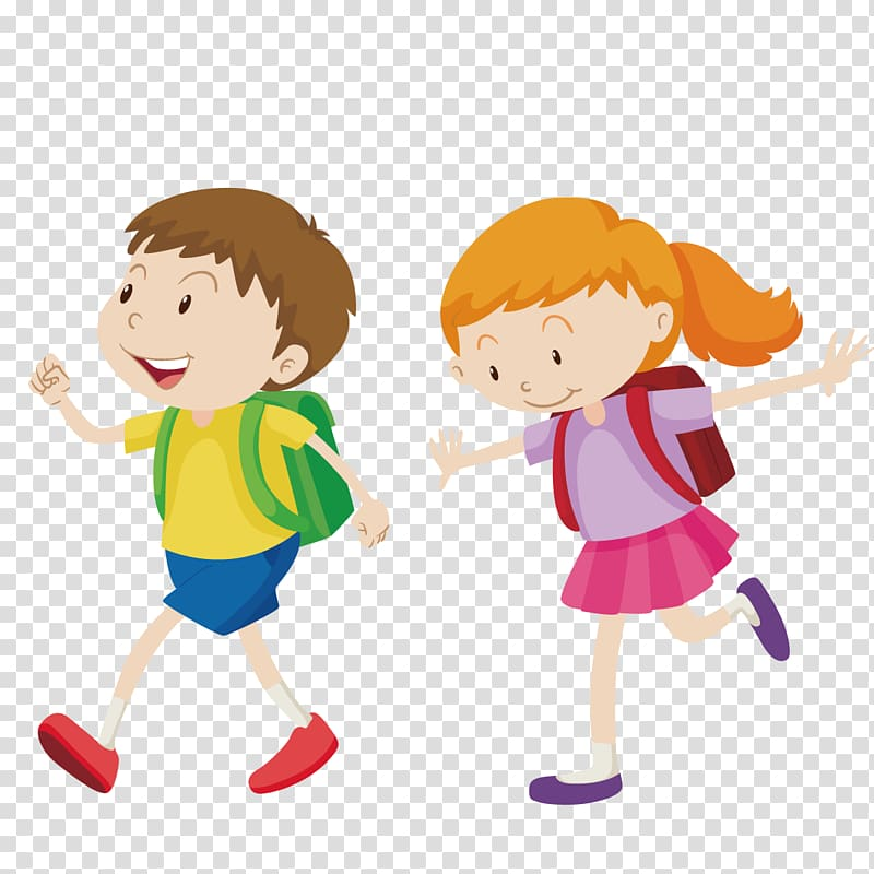 Walking clipart pictures image library Animated boy and girl illustration, Walking Boy , go to ... image library