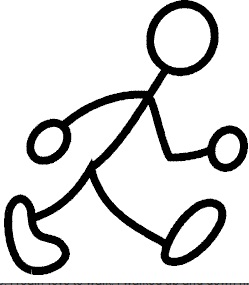Walking clipart stick man clip black and white Woman Walking Stick Figure Clipart & Free Clip Art Images ... clip black and white