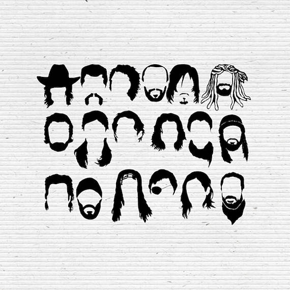 Walking dead images clipart clipart library download The Walking Dead Faces SVG Cut File, Digital Clipart ... clipart library download