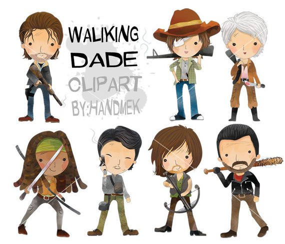 Walking dead images clipart vector royalty free download Pin by Etsy on Products in 2019 | Walking dead characters ... vector royalty free download