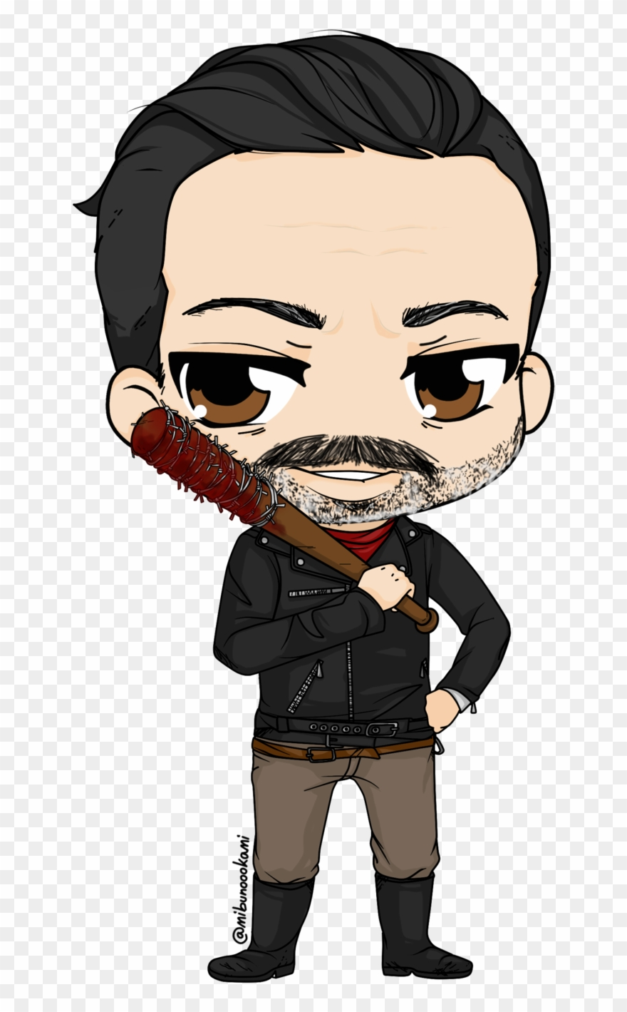 Walking dead images clipart clipart black and white The Walking Dead Clipart - Walking Dead Negan Chibi - Png ... clipart black and white