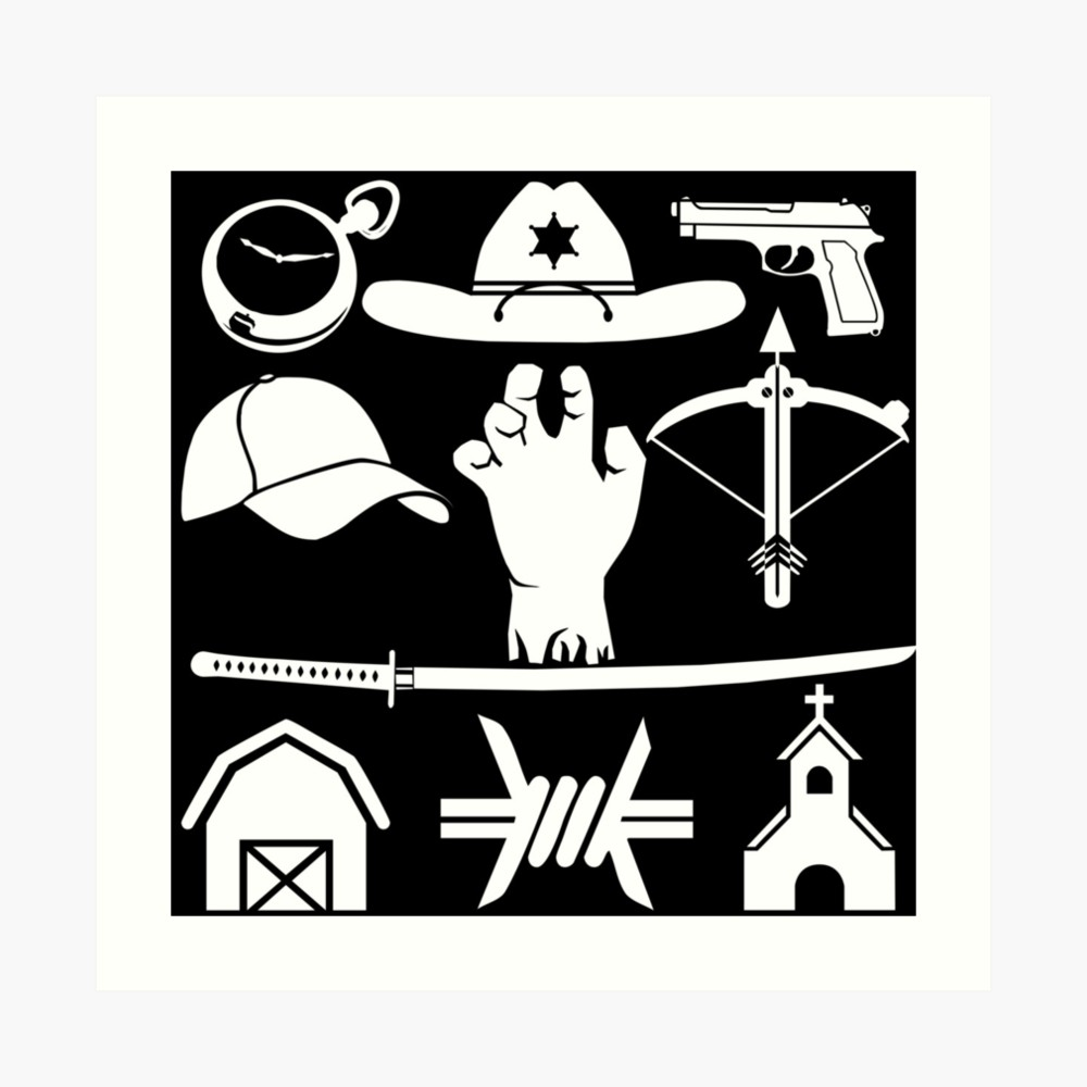 Walking dead location clipart svg freeuse download The Walking Dead - Symbols | Art Print svg freeuse download