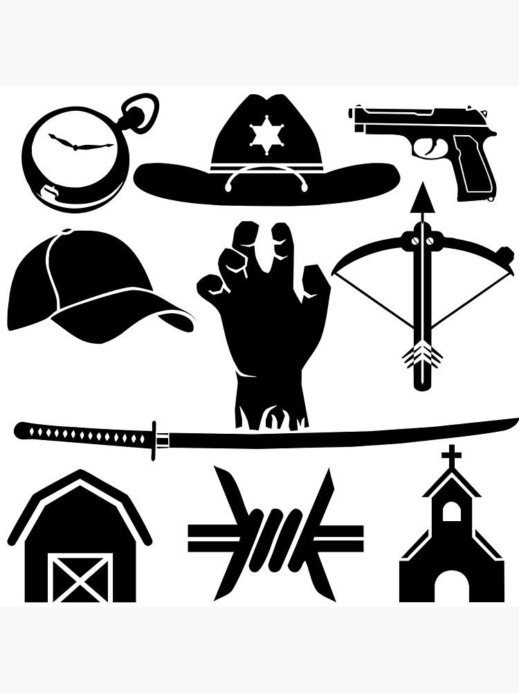 Walking dead location clipart clip art free The Walking Dead - Symbols | Photographic Print clip art free