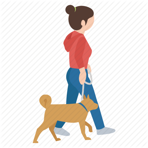 Walking dog clipart icon jpg stock \'People outdoors\' by Jisun Park jpg stock