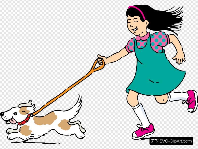 Walking dog clipart icon image black and white library Walking Dog Clip art, Icon and SVG - SVG Clipart image black and white library