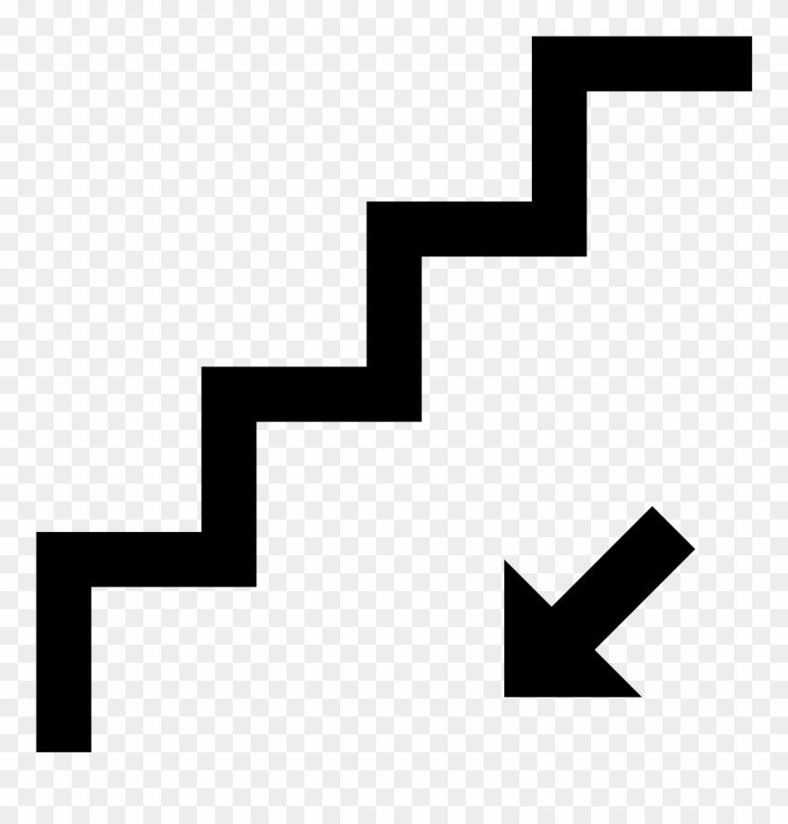 Walking down stairs clipart picture freeuse stock Stairs Down Icon Free - Stairs Icon Png Clipart (#243092 ... picture freeuse stock