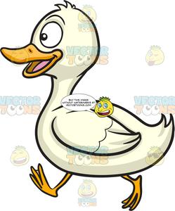 Walking ducks clipart png black and white stock A Happy Running Duck png black and white stock