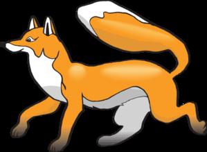 Walking fox clipart picture transparent download Jaunty Walking Fox Clip Art at Clker.com - vector clip art ... picture transparent download