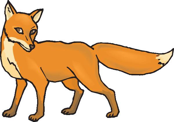 Walking fox clipart transparent Walking elegant fox clipart free design download ... transparent