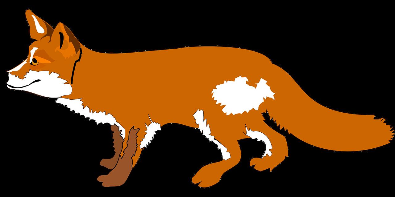Walking fox clipart banner transparent stock Cartoon Fox Clip art - Walking fox png download - 1280*640 ... banner transparent stock