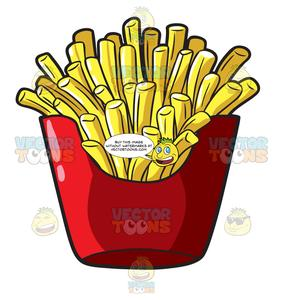 Walking fries clipart banner royalty free download A Serving Of French Fries From A Fast Food Chain banner royalty free download
