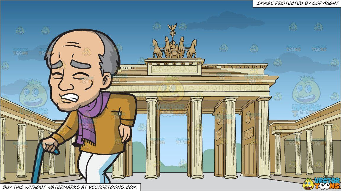 Walking gate clipart image library download clipart #cartoon An Old Man In Pain While Walking and ... image library download