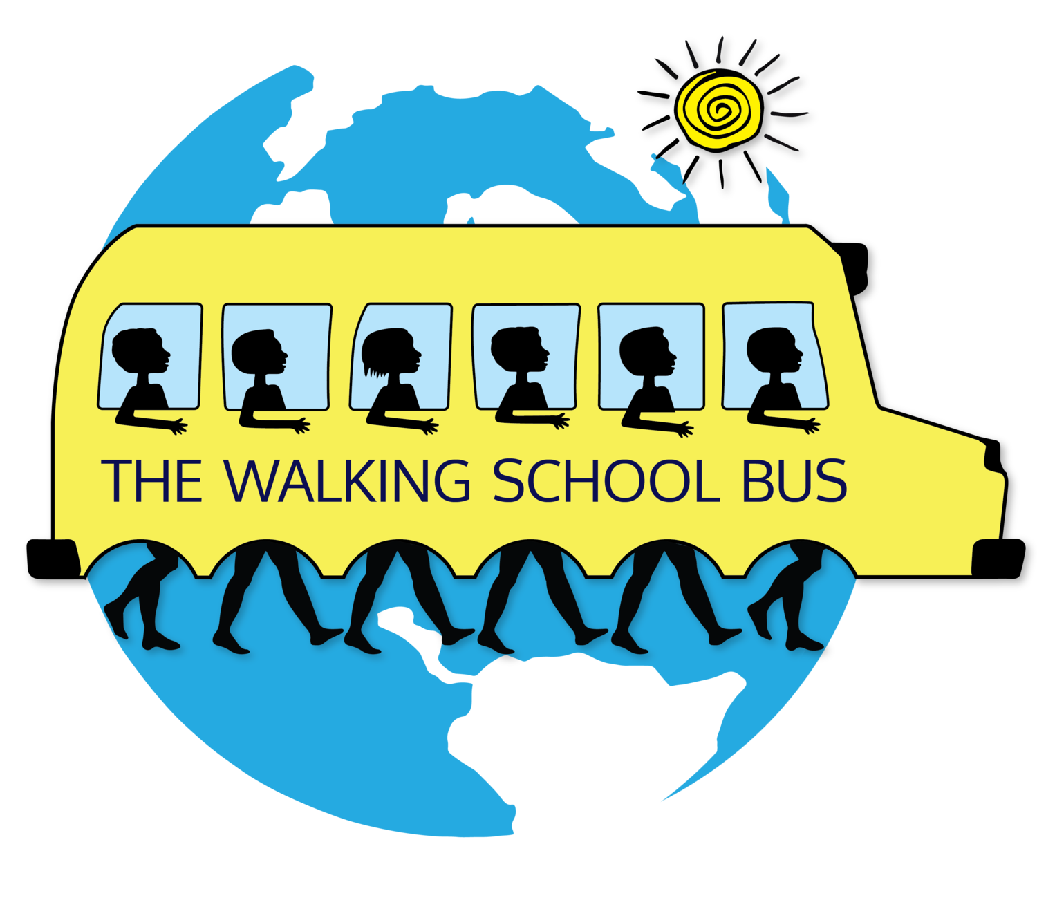 Walking home from school clipart clipart The Walking School Bus clipart