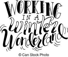 Walking in a winter wonderland clipart