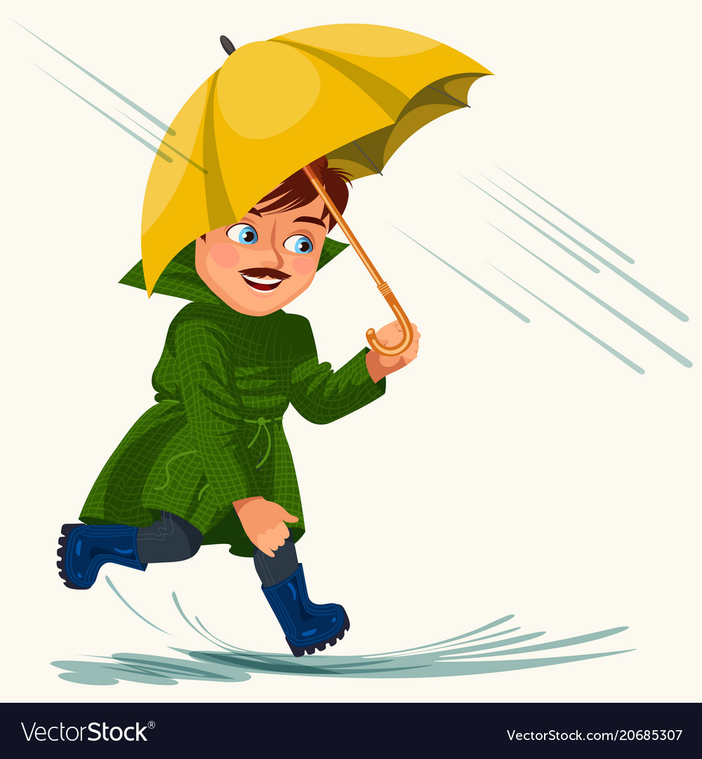 Walking in the rain clipart png royalty free download Man walking rain with umbrella hands raindrops png royalty free download