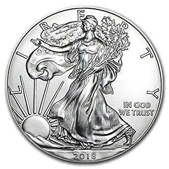 Walking liberty half dollar clipart png royalty free download 2018-1 Ounce American Silver Eagle .999 Fine Silver Dollar Uncirculated Us  Mint png royalty free download