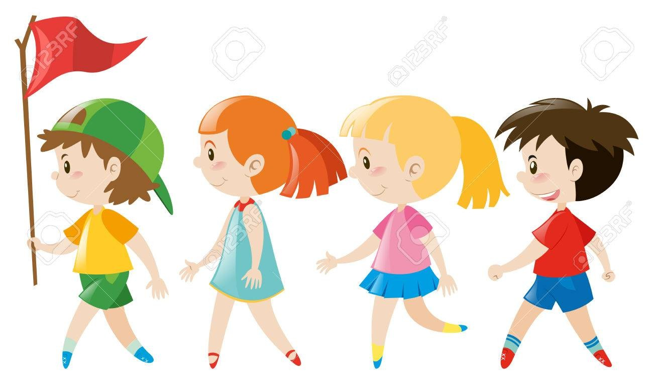 Walking line clipart png free library Walking in line clipart 1 » Clipart Station png free library