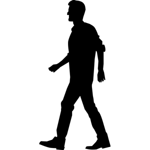 Walking man clipart vector black and white library Walking Man clipart, cliparts of Walking Man free download ... vector black and white library