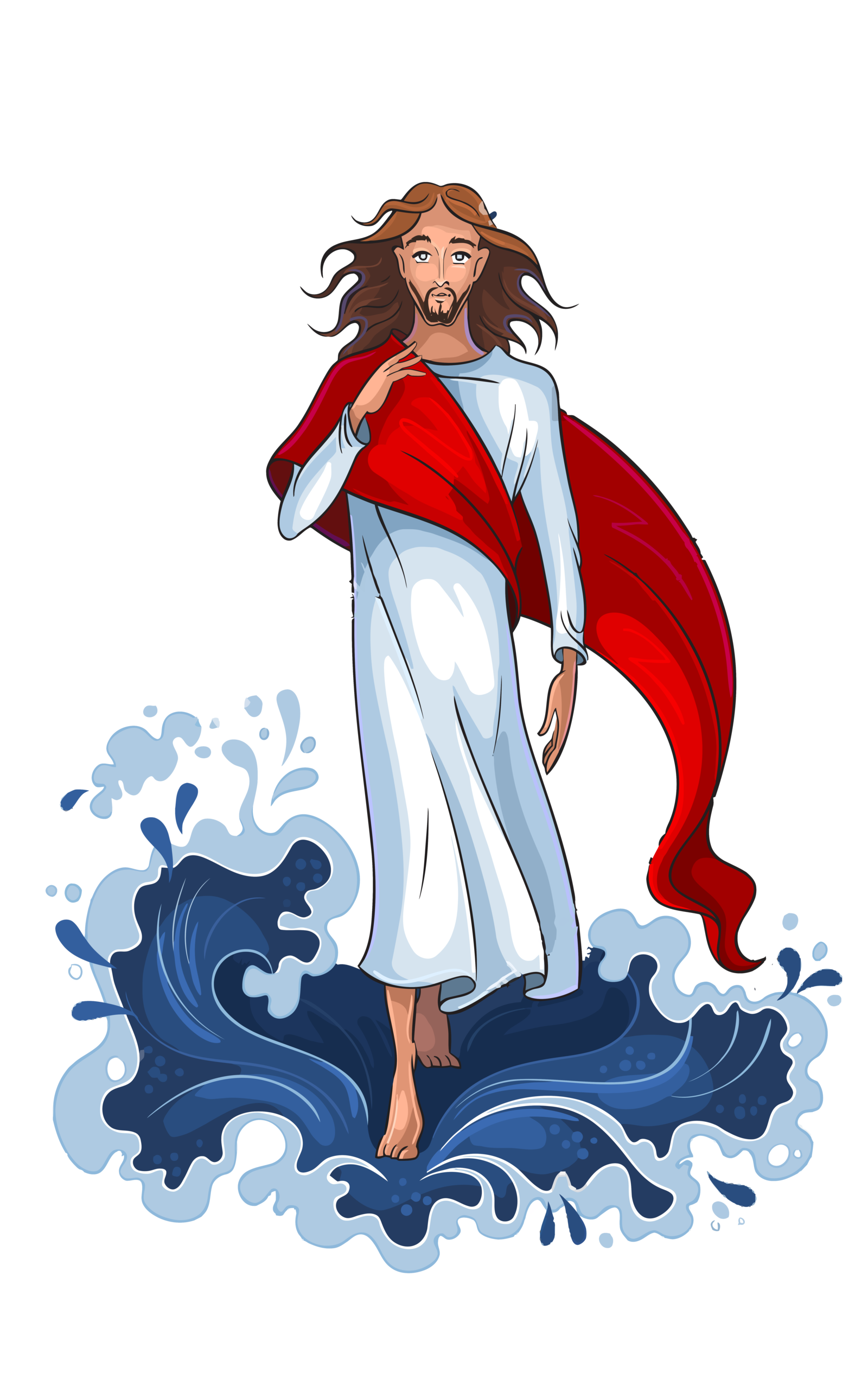 Walking on water clipart free picture transparent library Jesus walking on water clip art clipart images gallery for ... picture transparent library