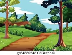 Walking path clipart banner free stock Hiking Trail Clip Art - Royalty Free - GoGraph banner free stock
