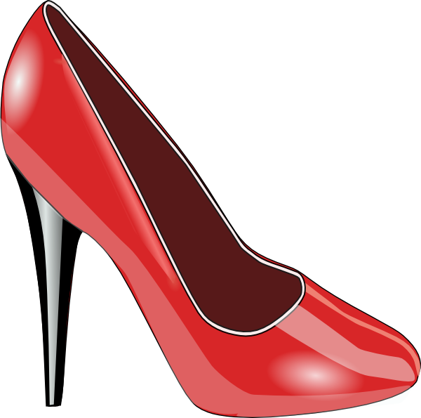 Walking red bottom heels clipart clipart black and white download cartoons pumps shoes | Large | ♡Shoes♡ | Shoes clipart ... clipart black and white download