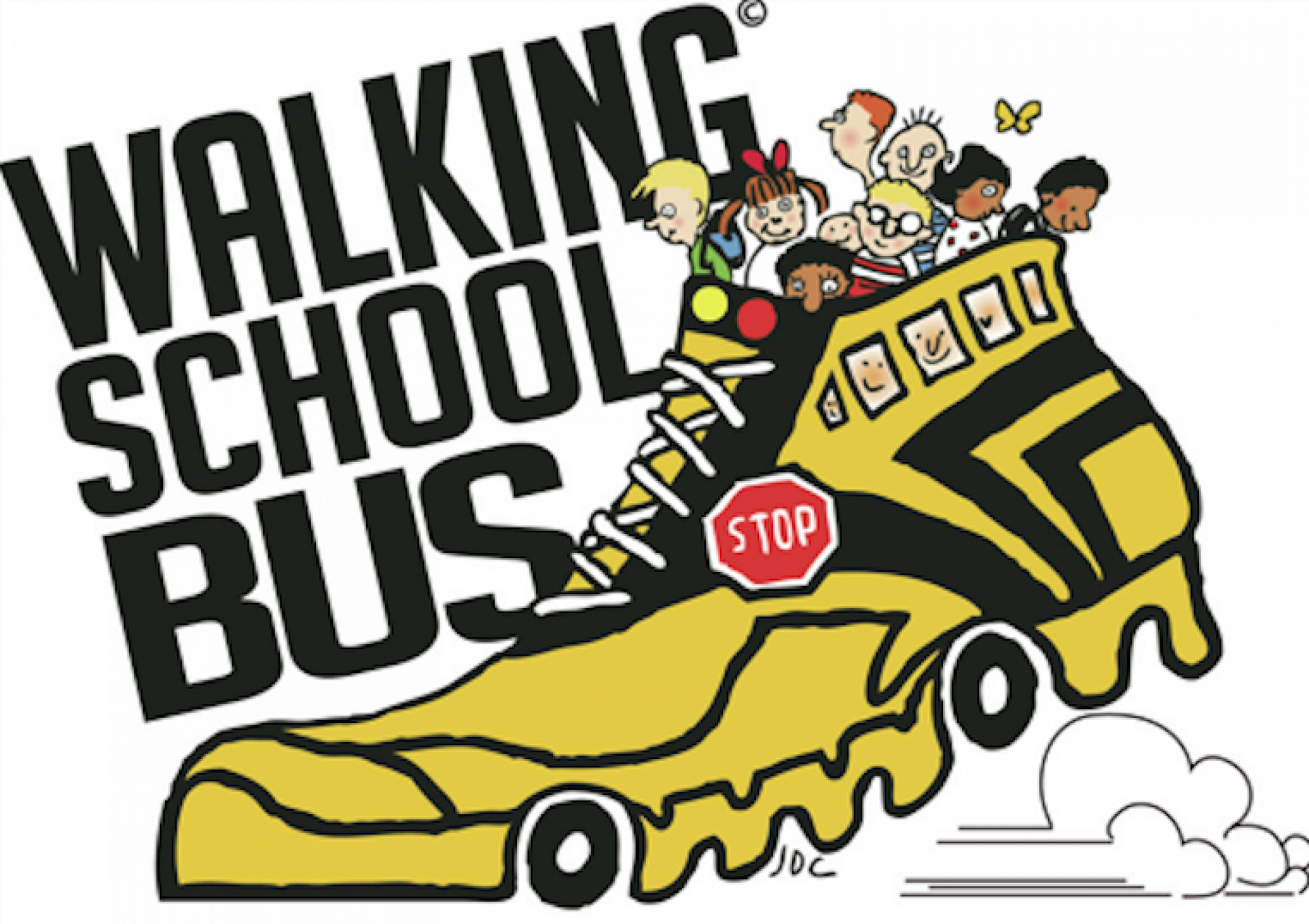 Walking school bus clipart jpg transparent stock Walking / Scootering School Bus Update jpg transparent stock