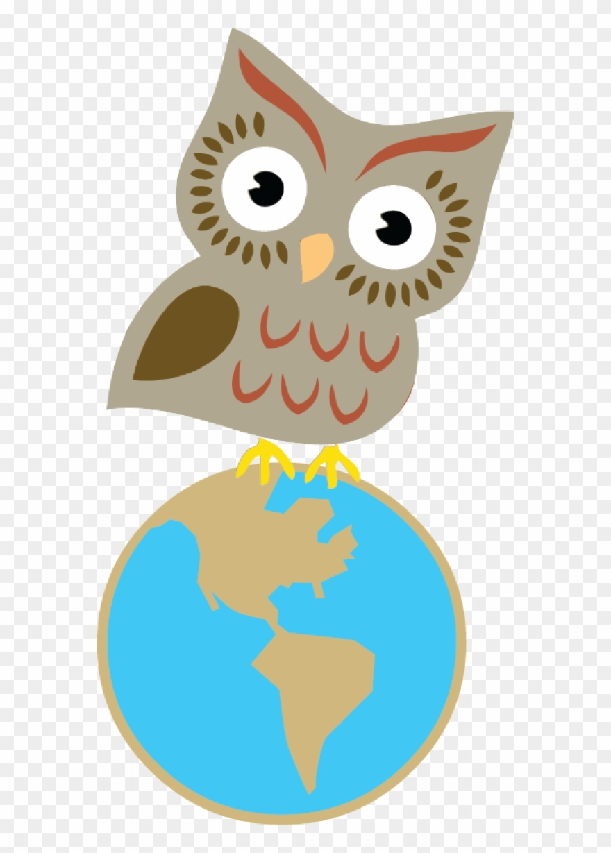 Walking scientist clipart jpg black and white library Earth Sciences And Map Workshops - Clipart Owl Science - Png ... jpg black and white library