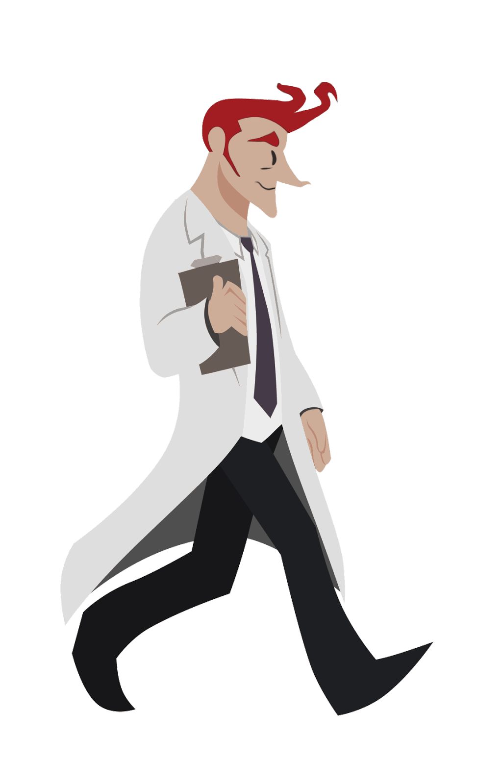Walking scientist clipart banner black and white Walk cycle Animation Scientist Image GIF - Animation png ... banner black and white