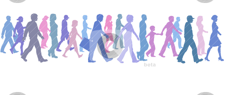Walking team clipart banner transparent library People of color group walk | Clipart Panda - Free Clipart Images banner transparent library
