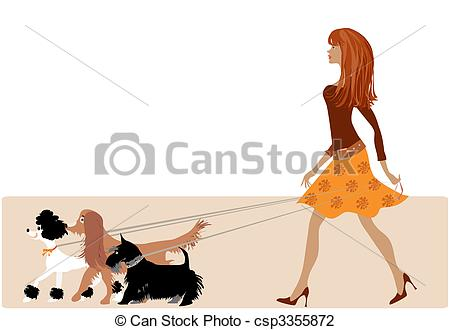 Walking the dog clipart banner black and white download Dog walking Clipart and Stock Illustrations. 5,877 Dog walking ... banner black and white download