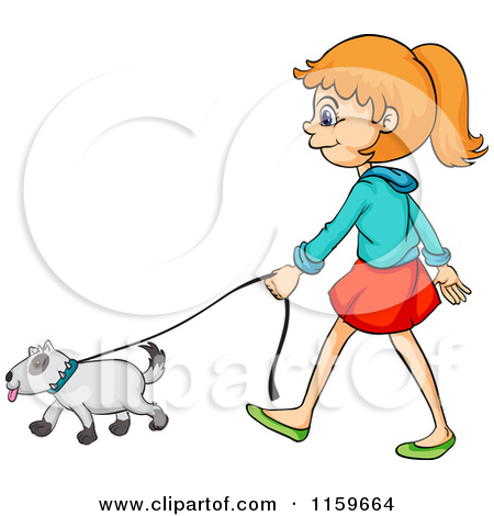 Walking the dog clipart clip royalty free Womsn walking a dog clipart - ClipartFest clip royalty free