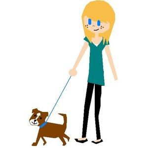 Walking the dog clipart image freeuse stock Girl Walking Dog Clipart - Clipart Kid image freeuse stock