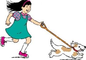 Walking the dog clipart graphic library download Walking dog clip art - ClipartFest graphic library download