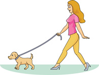 Walking the dog clipart clip transparent download Lady Walking Dog Clipart - Clipart Kid clip transparent download