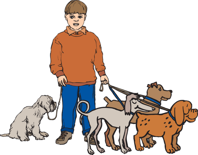 Boy walking dog clipart graphic transparent library People walking dogs clipart - ClipartFest graphic transparent library