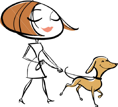 Walking the dog clipart banner royalty free stock Lady Walking Dog Clipart - Clipart Kid banner royalty free stock