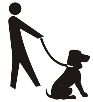 Walking the dog clipart