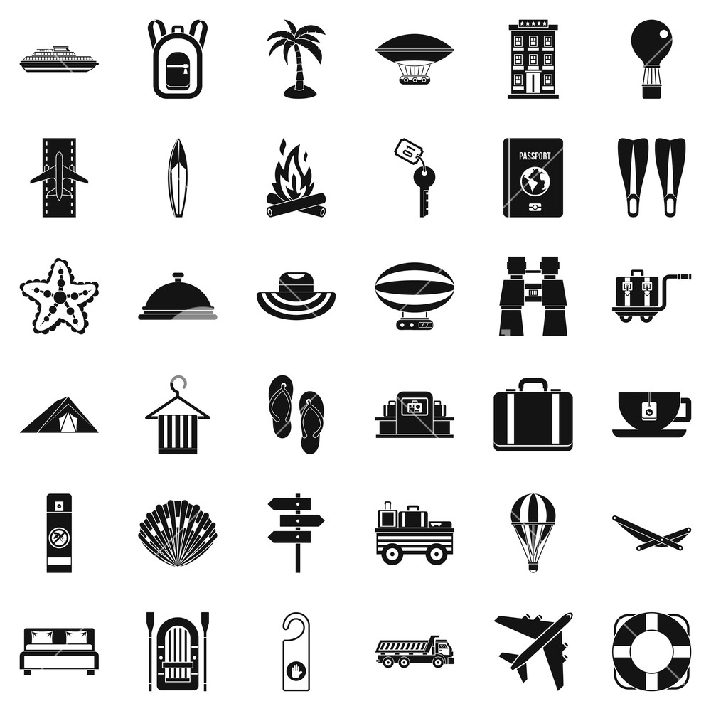 Walking through the forest black and white clipart svg free download Walking in forest icons set. Simple style of 36 walking in ... svg free download
