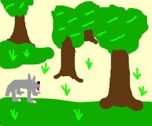 Walking through the woods clipart graphic free A wolf walking through the woods - Drawception graphic free