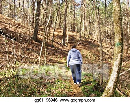 Walking through the woods clipart svg transparent download Stock Illustration - A walk in the woods. Clipart ... svg transparent download