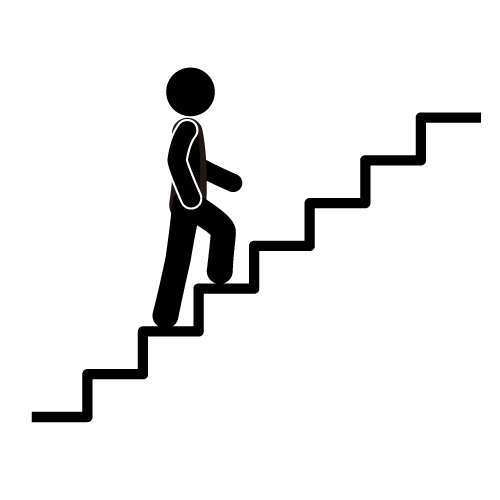 Walking up stairs clipart clip art black and white Imgs For > Staircase Clipart | Pictogramas | Stair climbing ... clip art black and white
