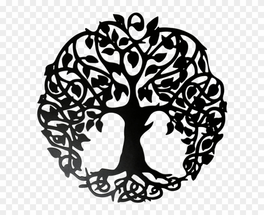 Wall art clipart png vector library library Tree Of Life Home Wall Decor - Png Drawing Life Tree Clipart ... vector library library
