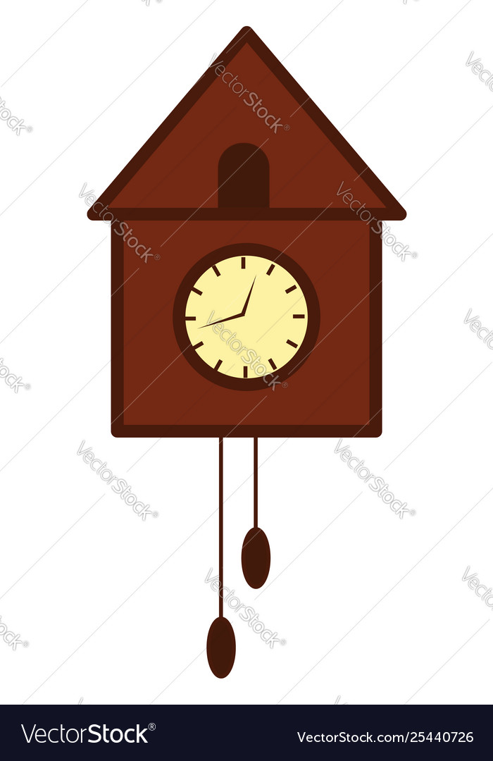 Wall clock clipart graphic stock Clipart wooden bird tree wall clock or graphic stock
