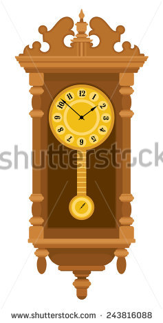 Wall clock with pendulum clipart banner royalty free library Pendulum Clock Stock Photos, Royalty-Free Images & Vectors ... banner royalty free library