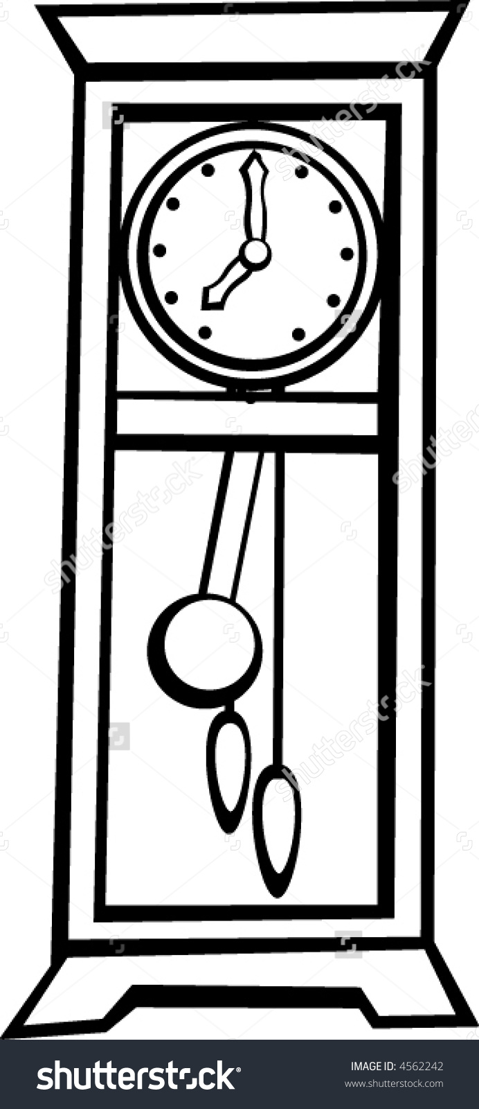 Wall clock with pendulum clipart svg free download Grandfather clock clipart black and white - ClipartFest svg free download