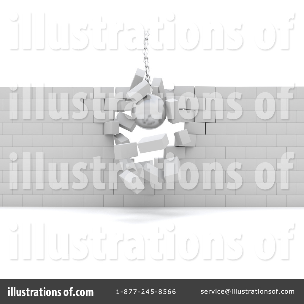 Wall demolition clipart svg royalty free Demolition Clipart #1065840 - Illustration by KJ Pargeter svg royalty free