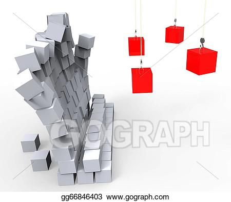 Wall demolition clipart clipart transparent Stock Illustration - Wall demolition showing impact and ... clipart transparent