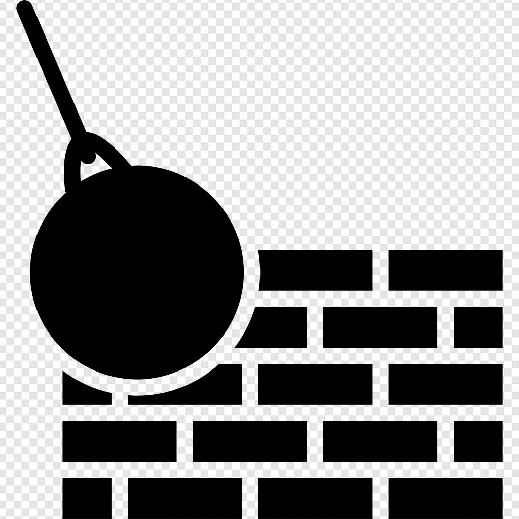 Wall demolition clipart picture transparent library Bricks Wall And Demolition Ball ico - Free Svg Png icons picture transparent library