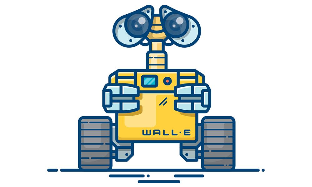 Wall e clipart jpg stock How to create WALL-E outline illustration - Alexander ... jpg stock
