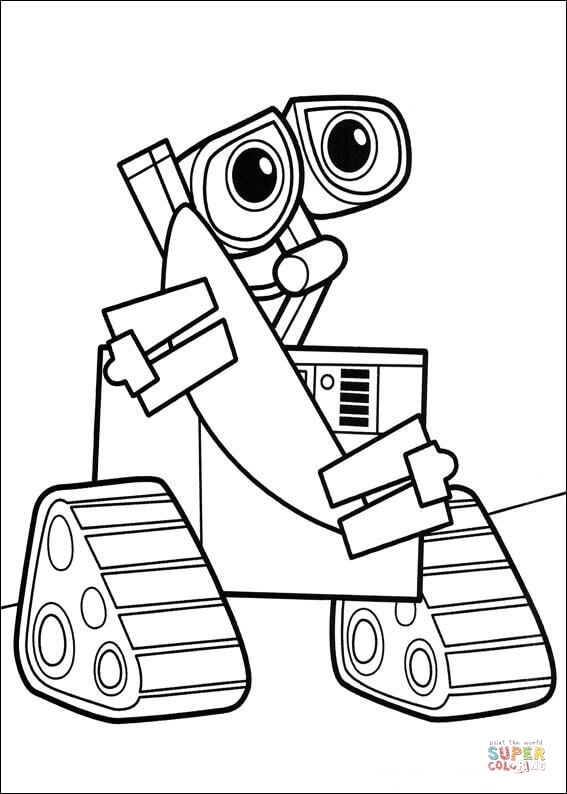 Wall e clipart fire extinguisher image download Wall-E coloring page | Free Printable Coloring Pages image download